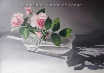 rozen in glas